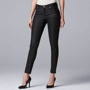 Simply Vera Vera Wang Coated Skinny Jeans ankle